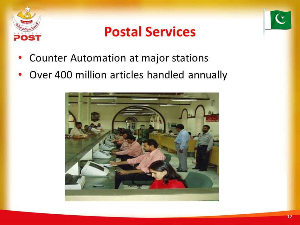 Postal Services Counter Automation at major stations