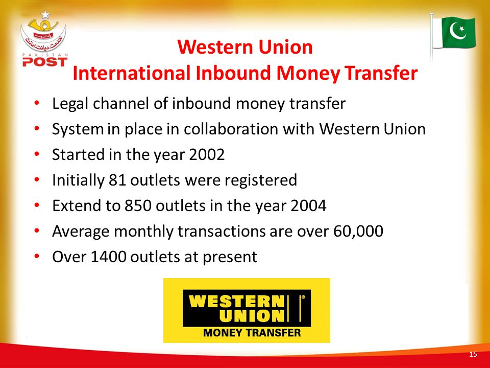 Western Union International Inbound Money Transfer