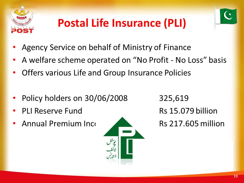 Postal Life Insurance (PLI)