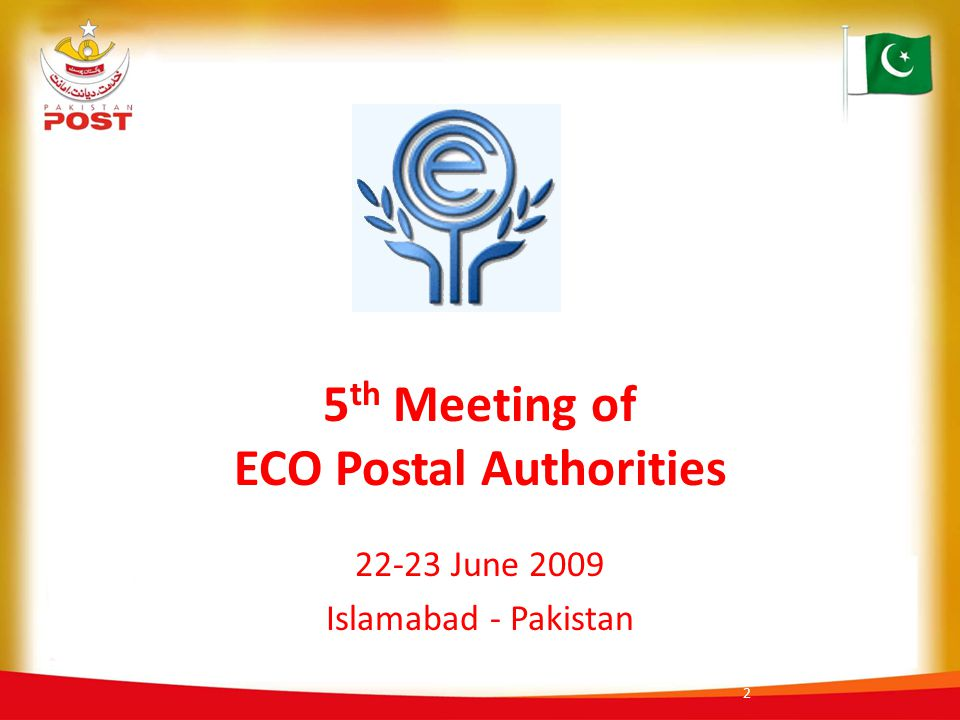 5th Meeting of ECO Postal Authorities