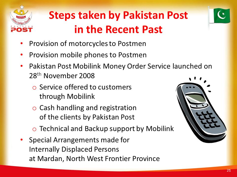Steps taken by Pakistan Post in the Recent Past