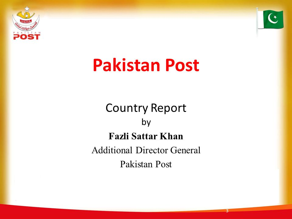 Pakistan Post Country Report