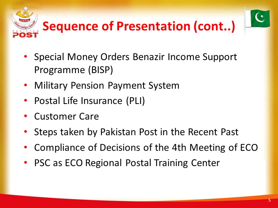 Sequence of Presentation (cont..)