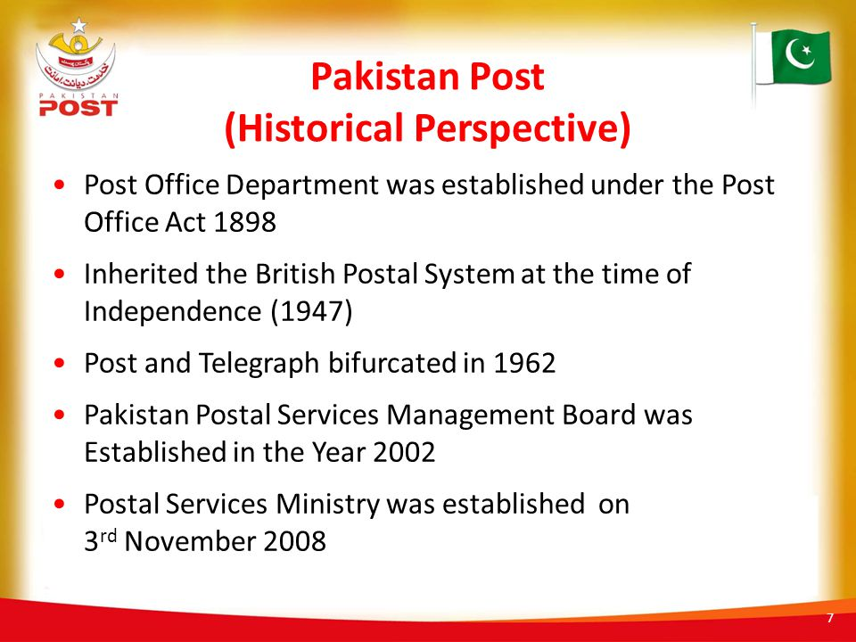 Pakistan Post (Historical Perspective)