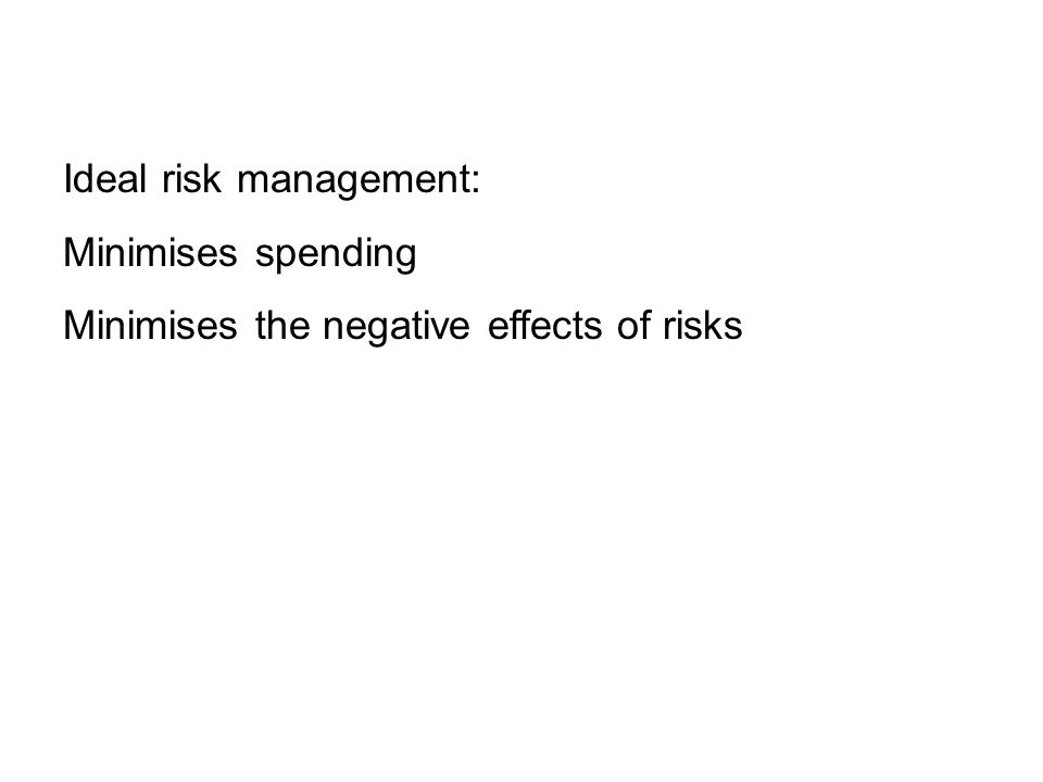 Ideal risk management: