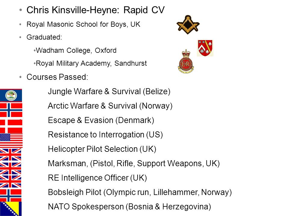 Chris Kinsville-Heyne: Rapid CV