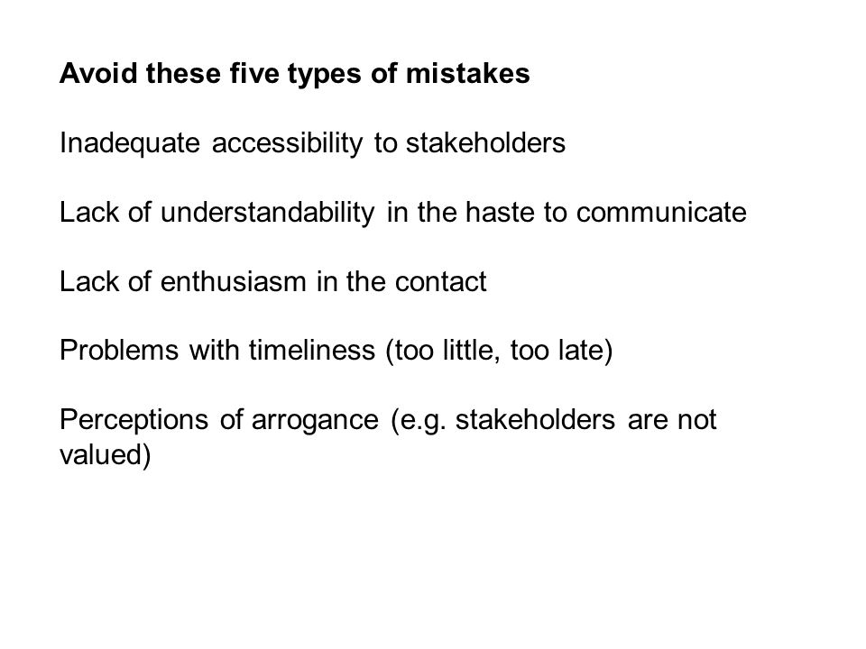 Avoid these five types of mistakes