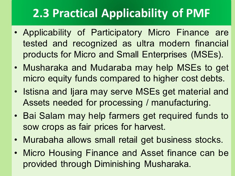 2.3 Practical Applicability of PMF