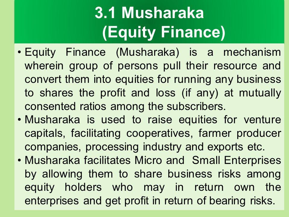 3.1 Musharaka (Equity Finance)