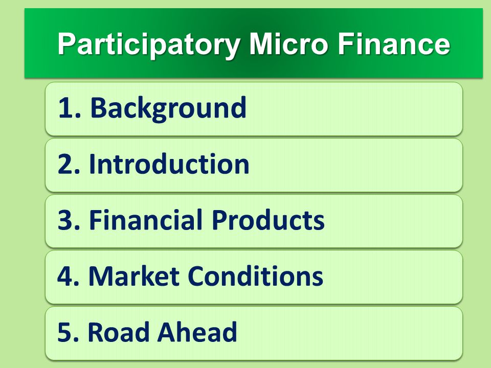 Participatory Micro Finance