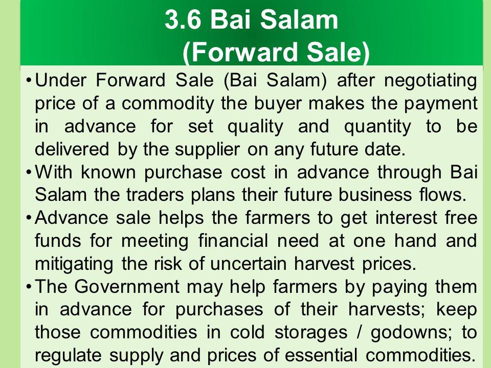 3.6 Bai Salam (Forward Sale)