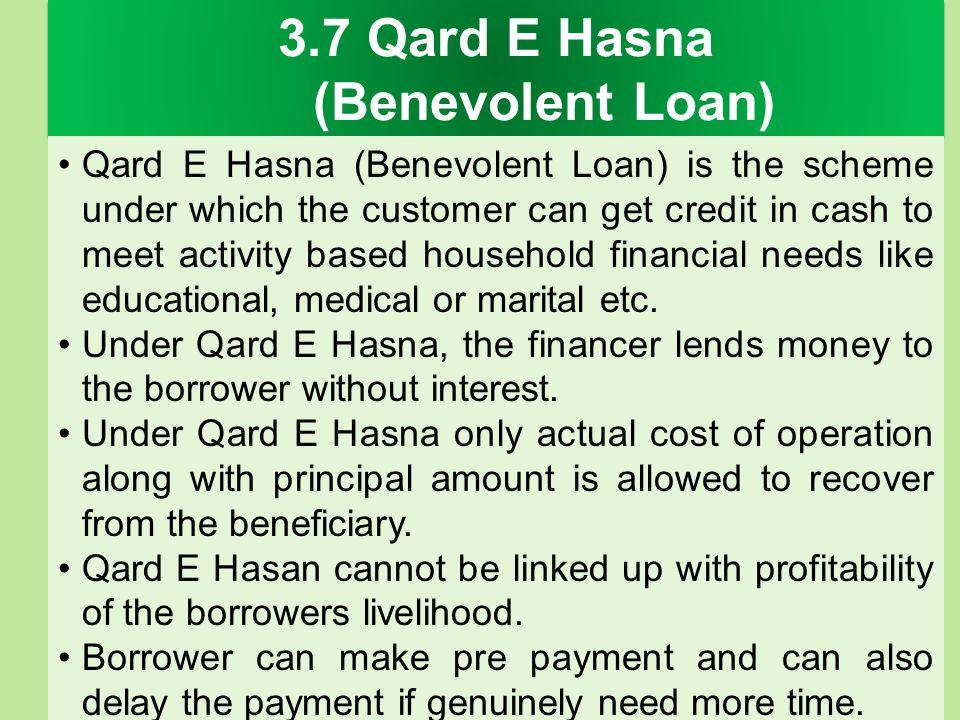 3.7 Qard E Hasna (Benevolent Loan)
