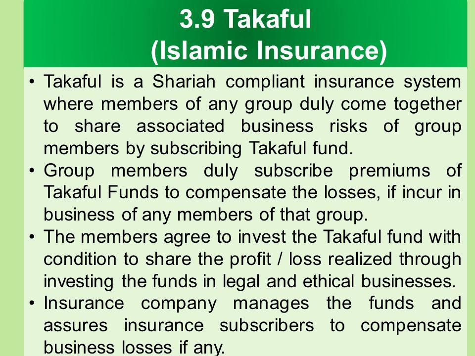 3.9 Takaful (Islamic Insurance)