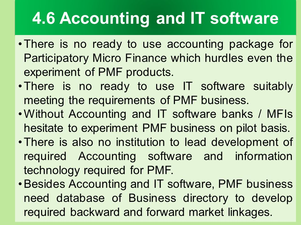 4.6 Accounting and IT software