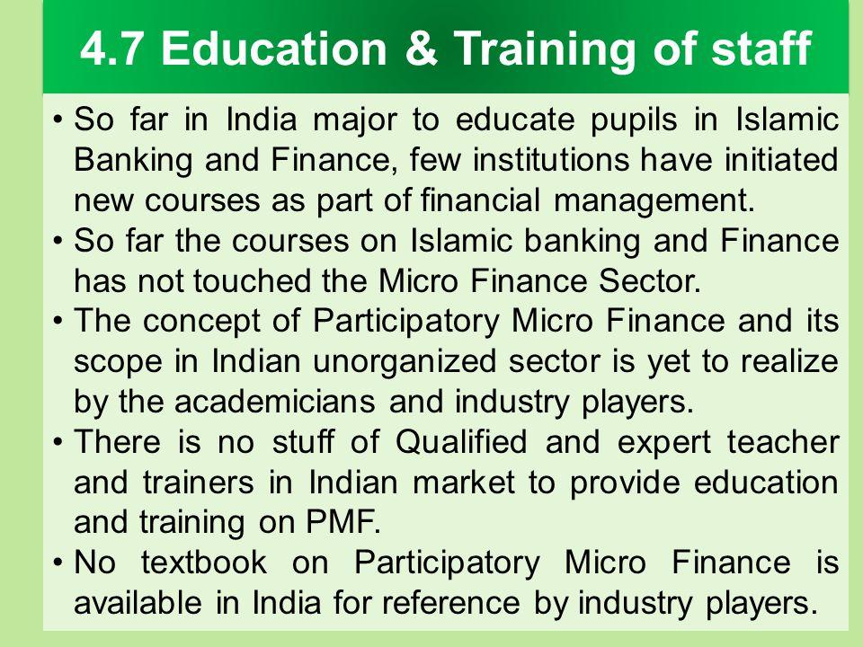 4.7 Education & Training of staff