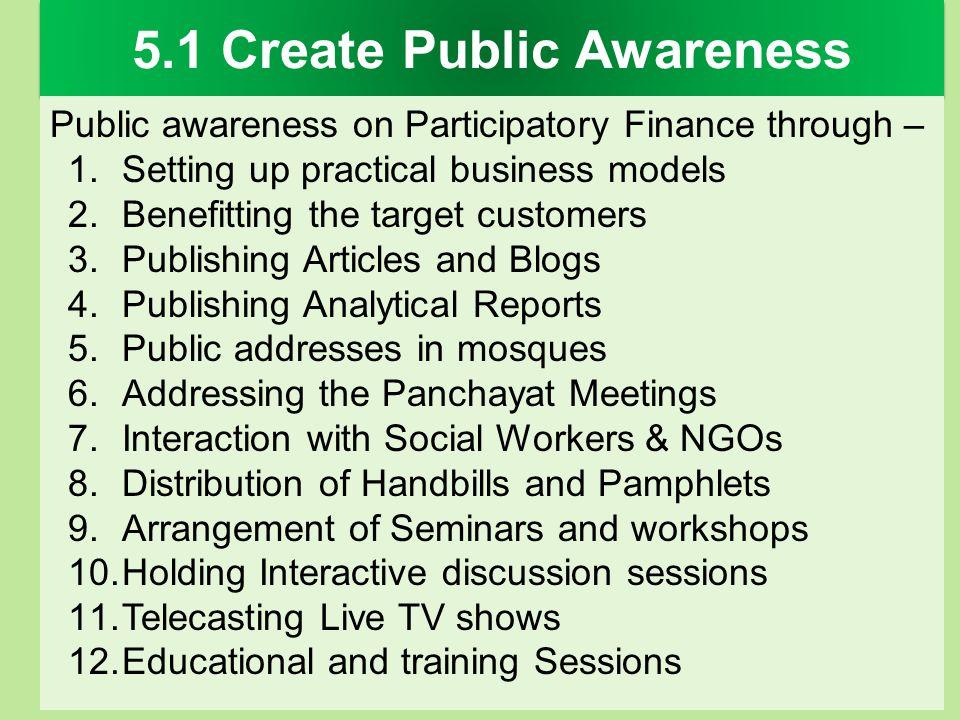 5.1 Create Public Awareness