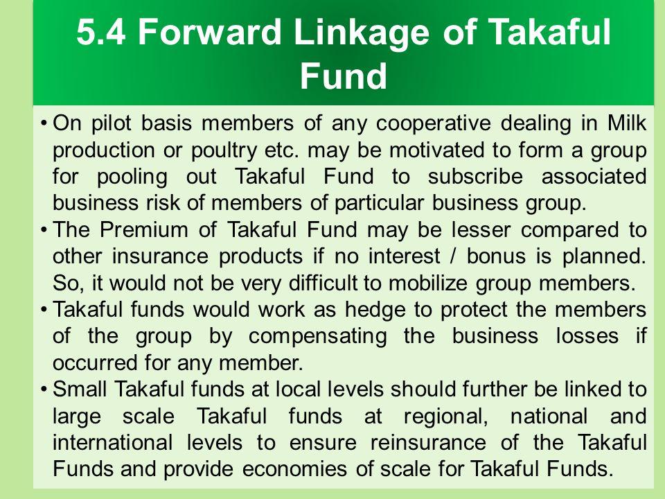 5.4 Forward Linkage of Takaful Fund