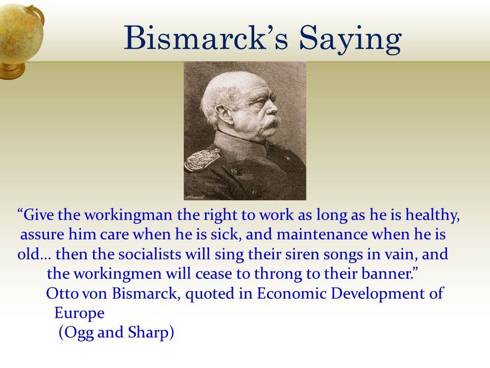 Bismarck's Saying