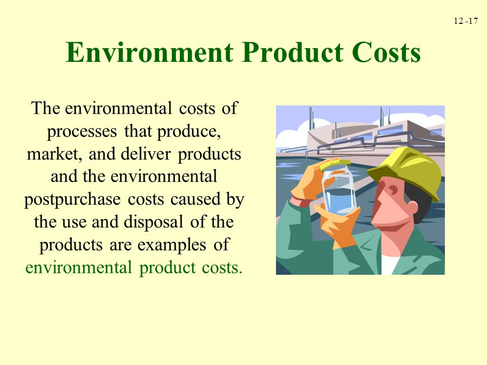 Environment Product Costs