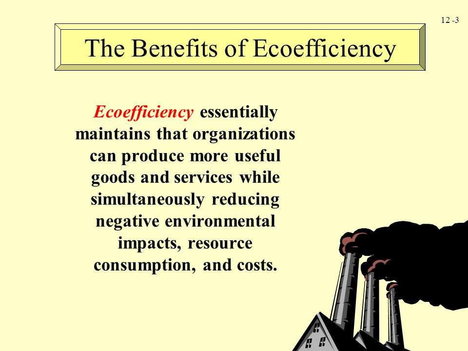 The Benefits of Ecoefficiency