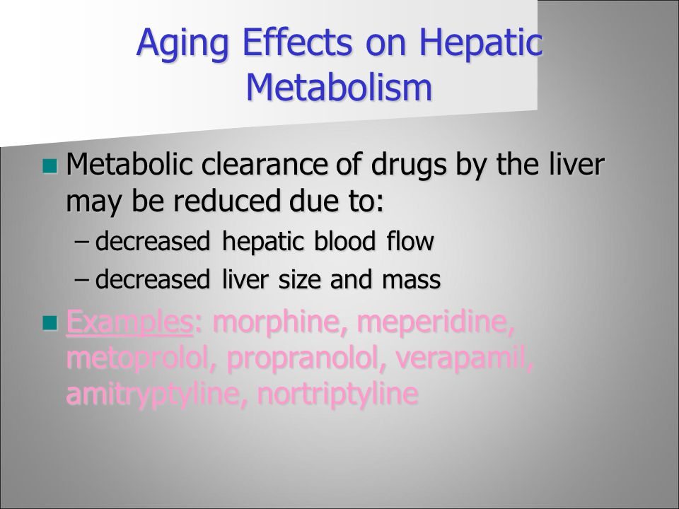 Aging Effects on Hepatic Metabolism