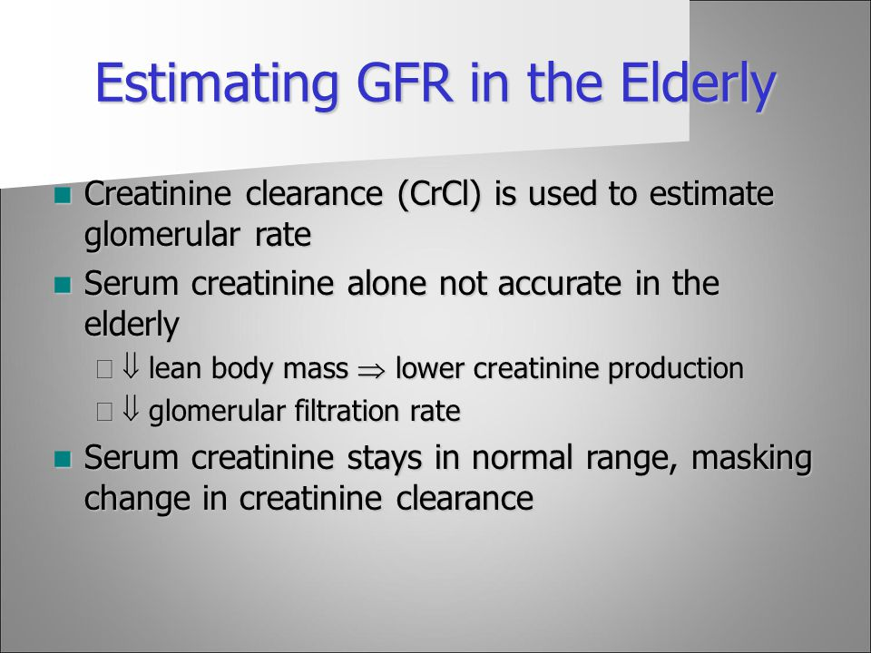 What is the normal range for GFR levels? Referencecom