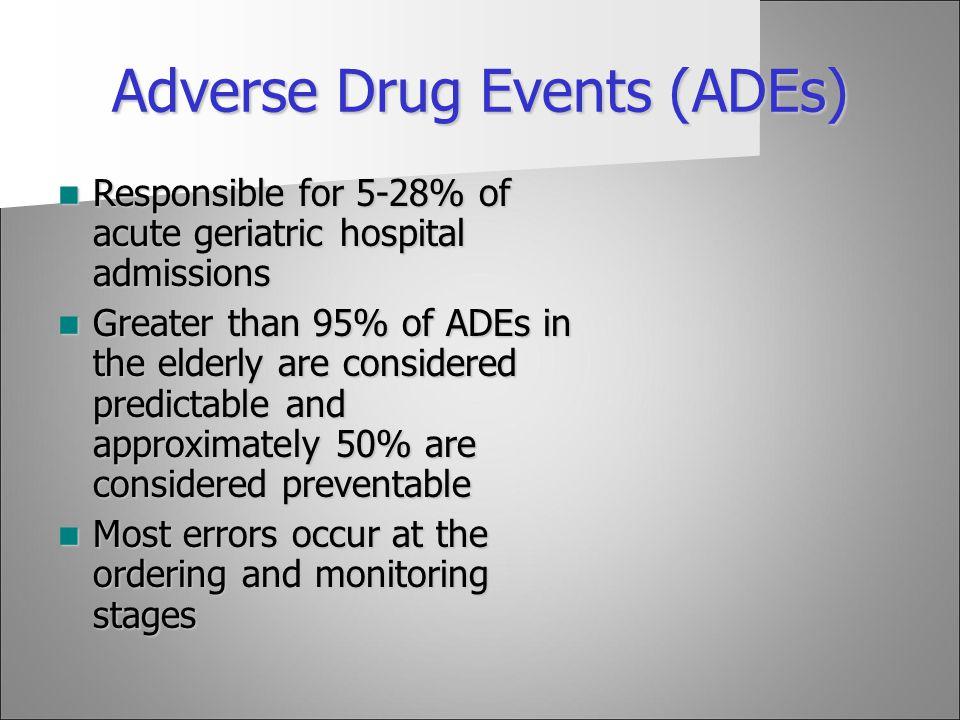 Adverse Drug Events (ADEs)