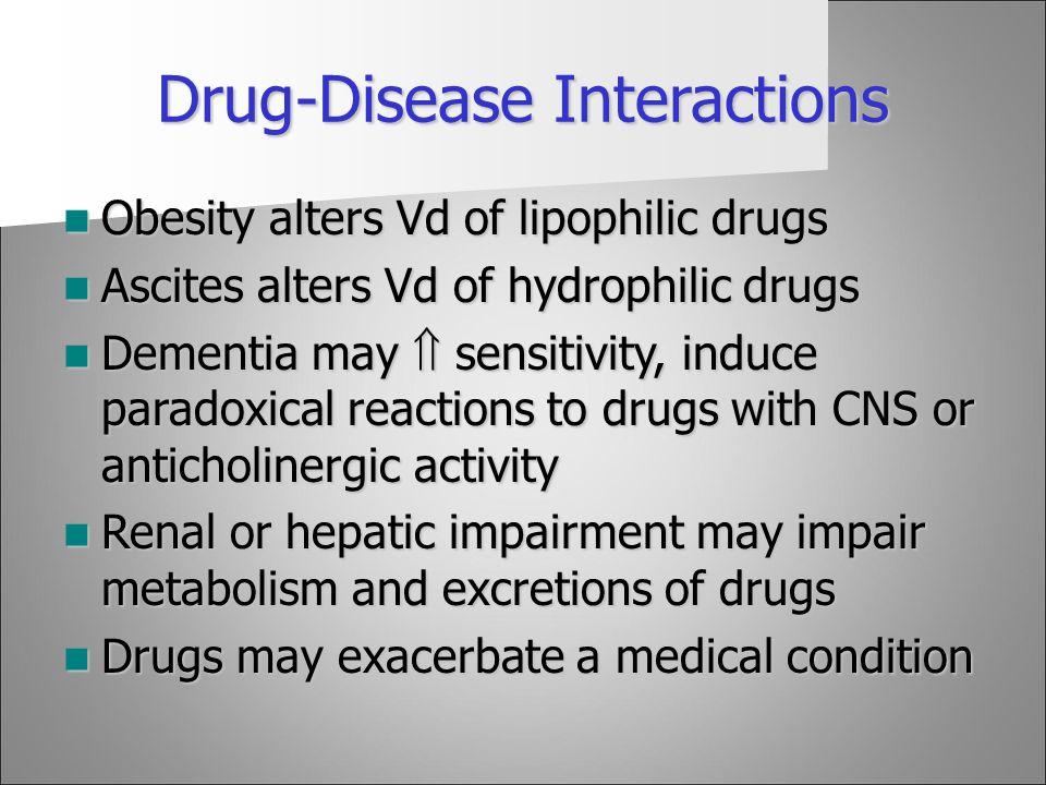 Drug-Disease Interactions