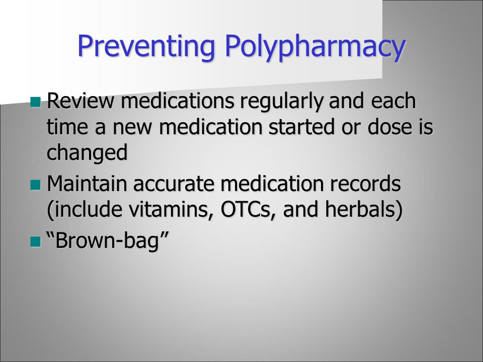 Preventing Polypharmacy