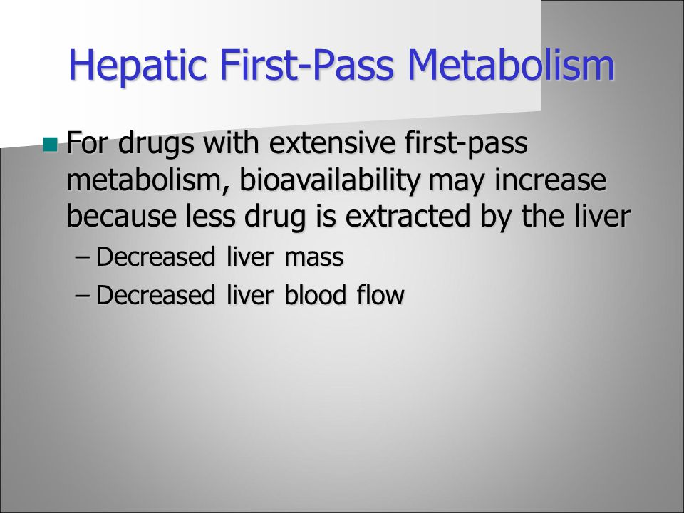 Hepatic First-Pass Metabolism