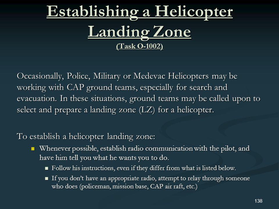 Establishing a Helicopter Landing Zone (Task O-1002)