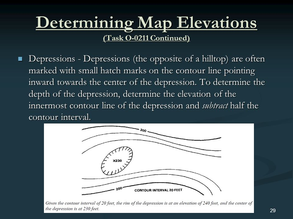 Determining Map Elevations (Task O-0211 Continued)
