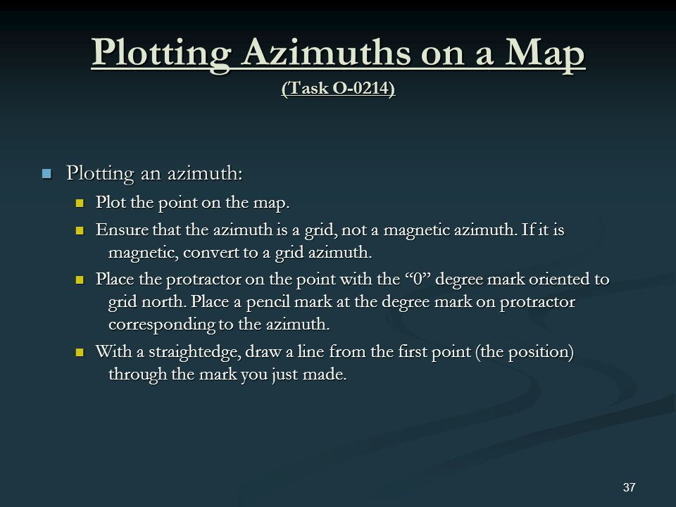Plotting Azimuths on a Map (Task O-0214)