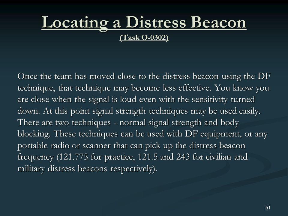 Locating a Distress Beacon (Task O-0302)