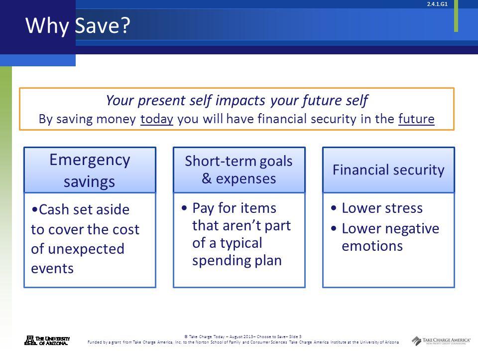 Short-term goals & expenses