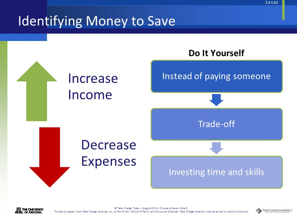 Identifying Money to Save
