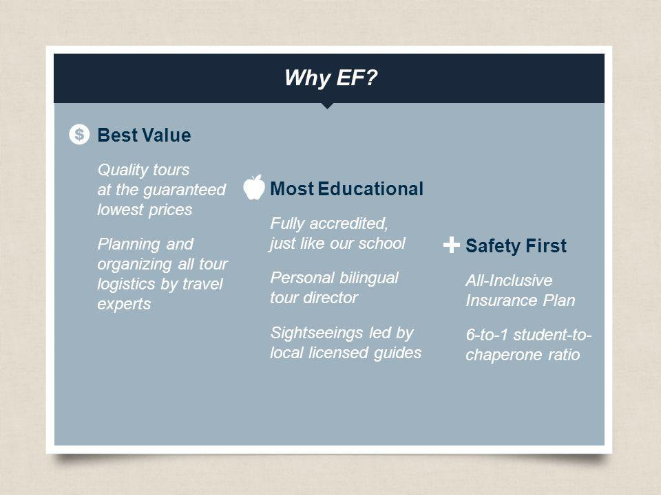 Why EF Best Value Most Educational Safety First