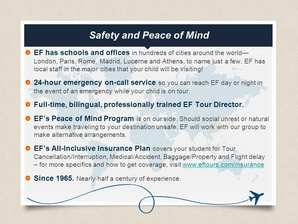 Safety and Peace of Mind
