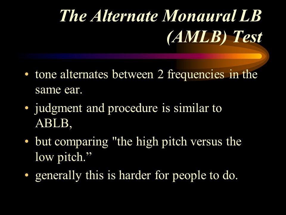 The Alternate Monaural LB (AMLB) Test