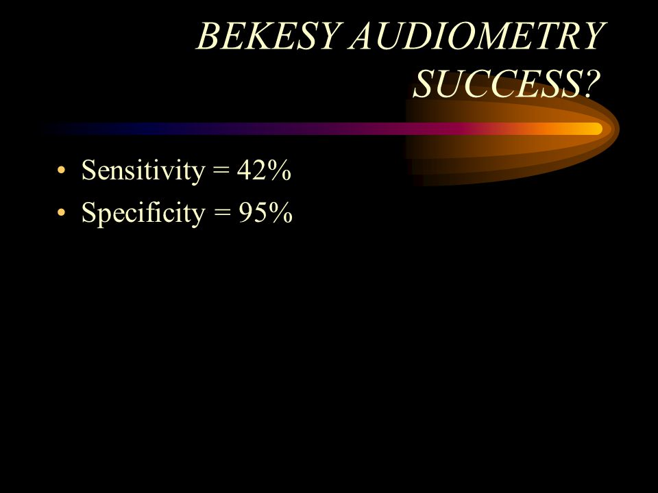 BEKESY AUDIOMETRY SUCCESS