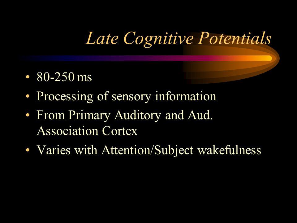Late Cognitive Potentials