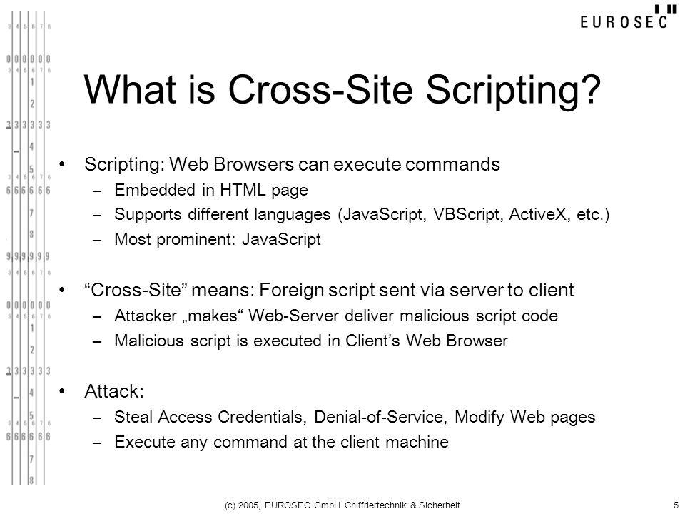 What is Cross-Site Scripting