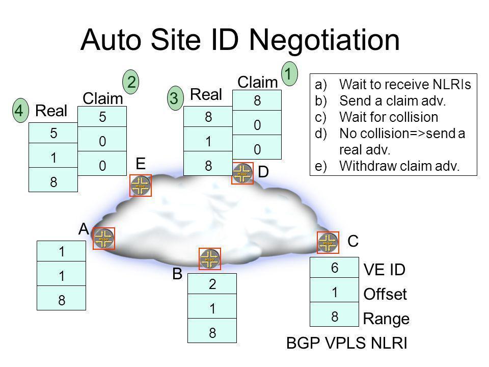 Auto Site ID Negotiation