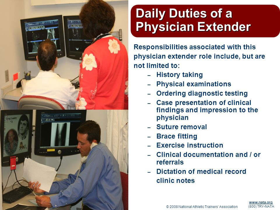 Daily Duties of a Physician Extender