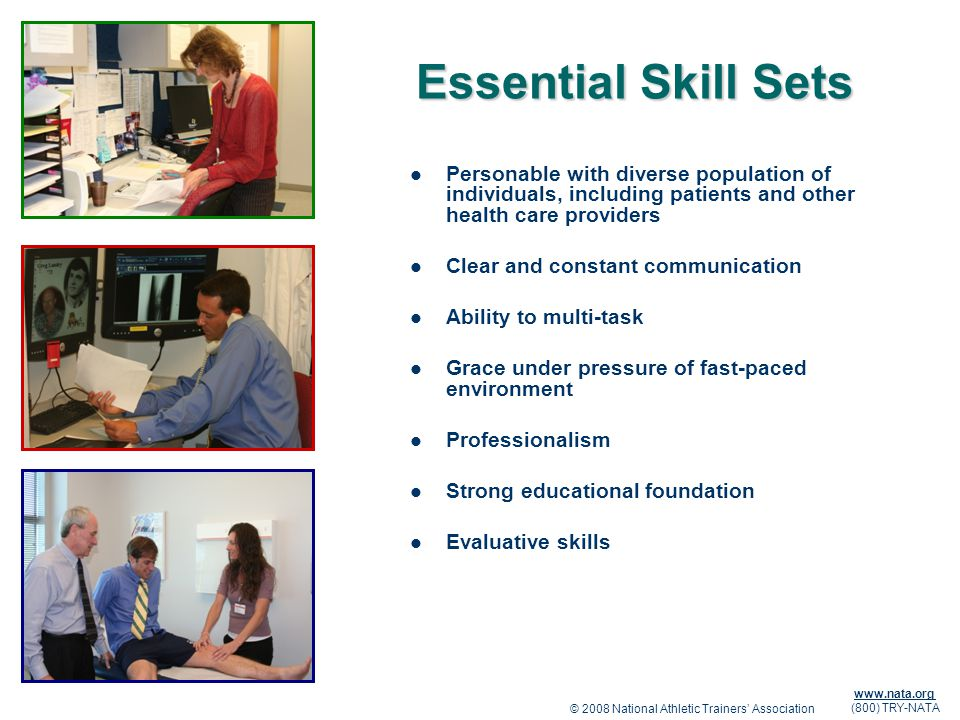 Essential Skill Sets Personable with diverse population of individuals, including patients and other health care providers.