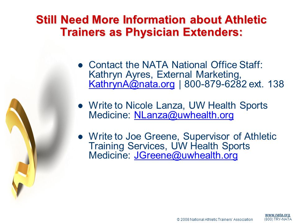 Still Need More Information about Athletic Trainers as Physician Extenders: