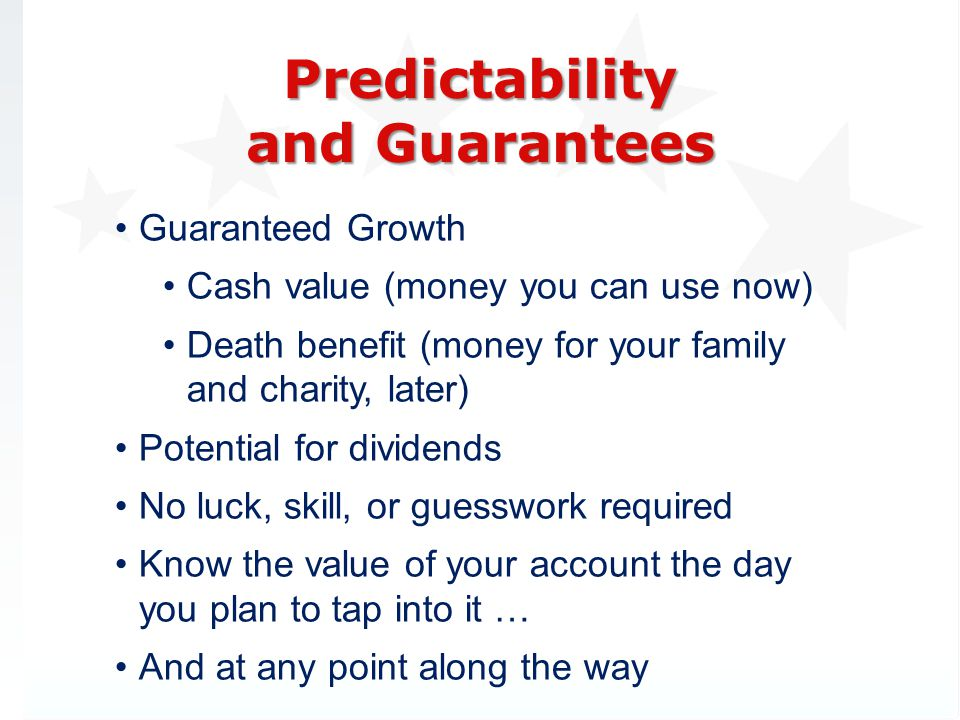 Predictability and Guarantees
