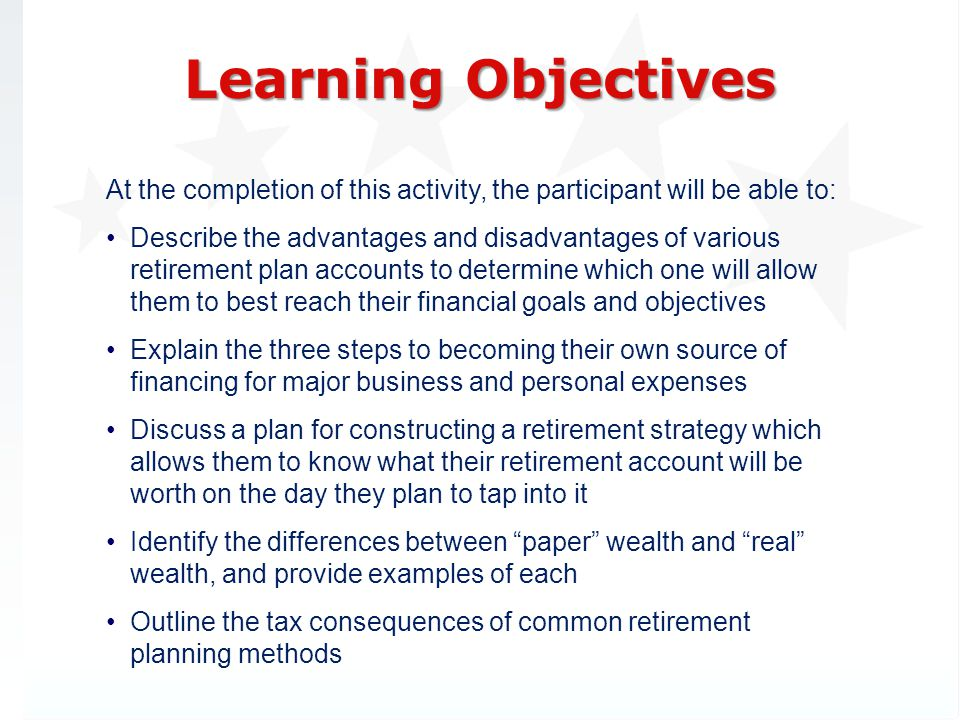 3/31/2017 Learning Objectives. At the completion of this activity, the participant will be able to: