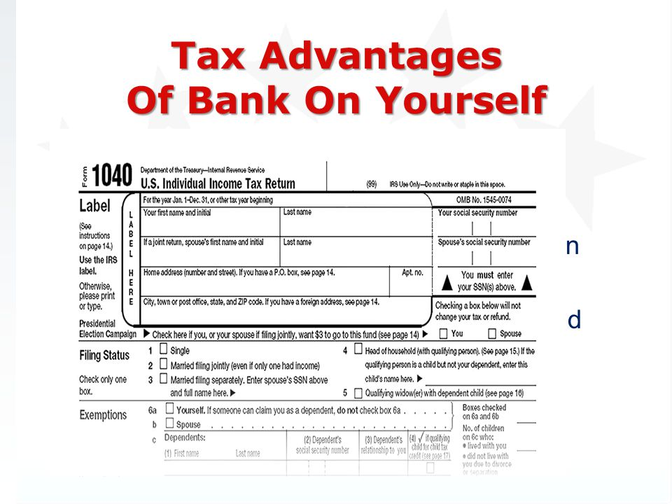 Tax Advantages Of Bank On Yourself