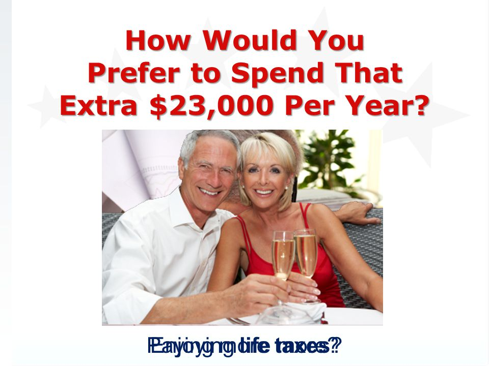 How Would You Prefer to Spend That Extra $23,000 Per Year